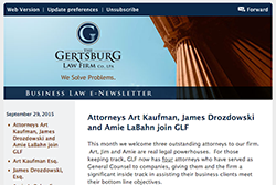 Gertsburg Law Firm September 29, 2015 Vol. 10 blog