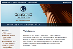 Gertsburg Law Firm July 8, 2015 Vol. 9 blog