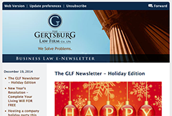 Gertsburg Law Firm December 22, 2014 Vol. 7 blog