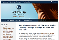 Gertsburg Law Firm July 25, 2014 Vol. 6 blog