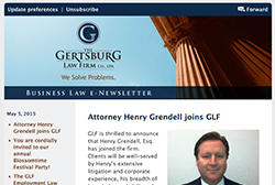 Gertsburg Law Firm May 5, 2015 Vol. 8 blog
