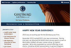 Gertsburg Law Firm January 8, 2014 Vol. 5 blog