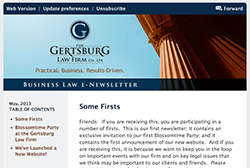 Gertsburg Law Firm May 23, 2013 Vol. 2 blog
