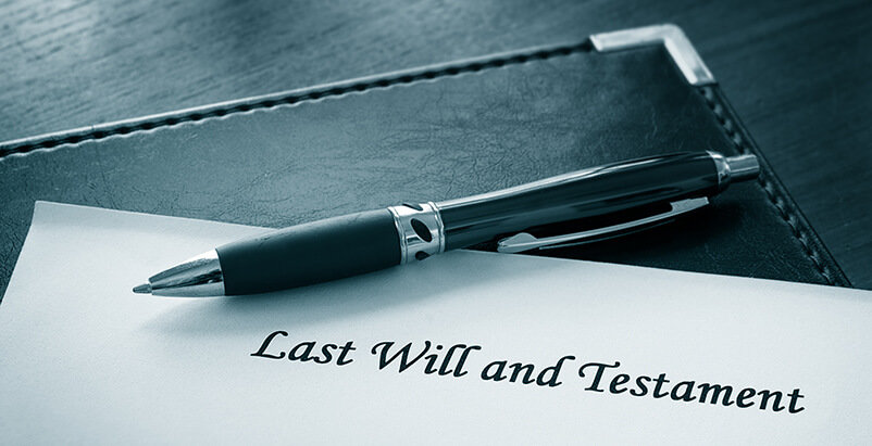 Last Will and Testament paper with pen