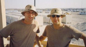 Alex Gertsburg, Esq. and unknown man with bucket hats on