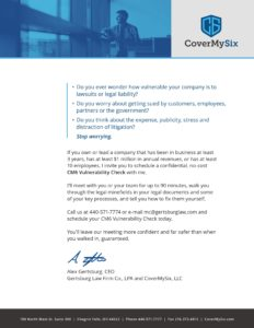 CoverMySix Vulnerability Check information
